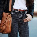 Szare marmurkowe spodnie