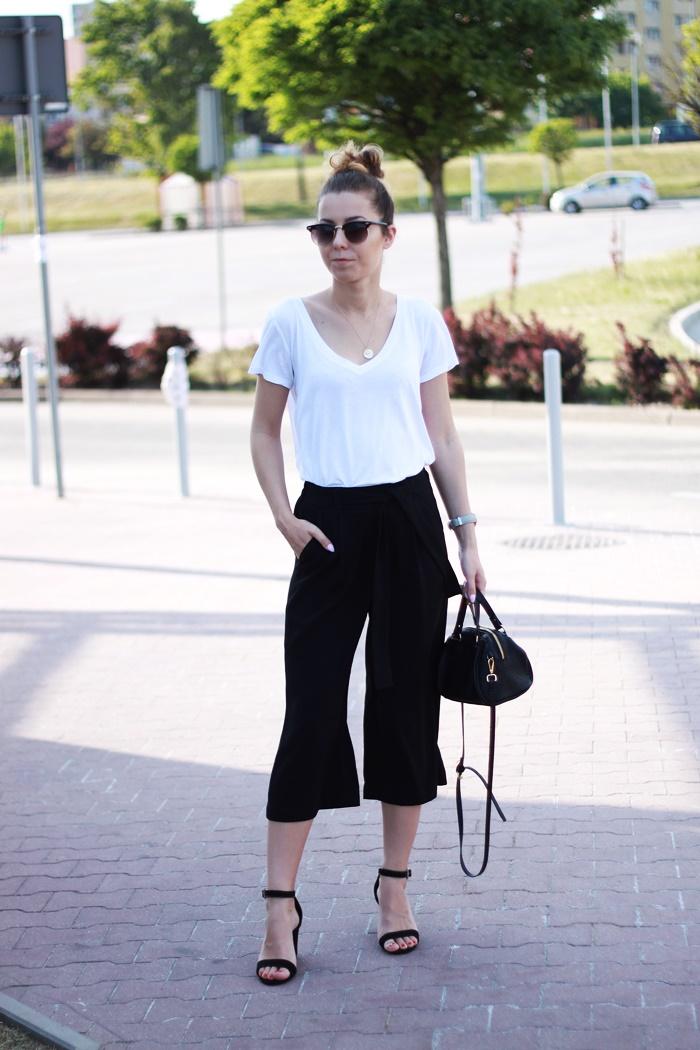 spodnie culotty w stylizacji