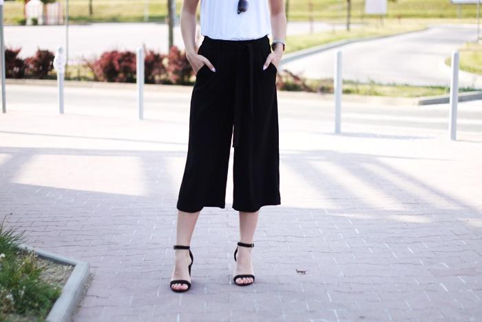 do czego nosić spodnie culotty