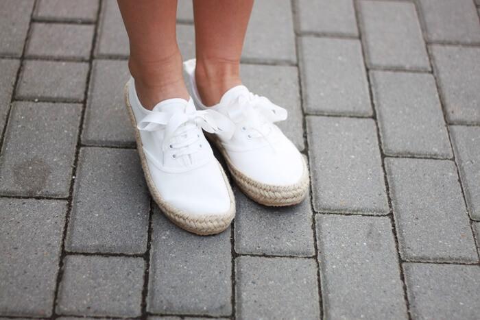 białe tenisówki espadryle h&m